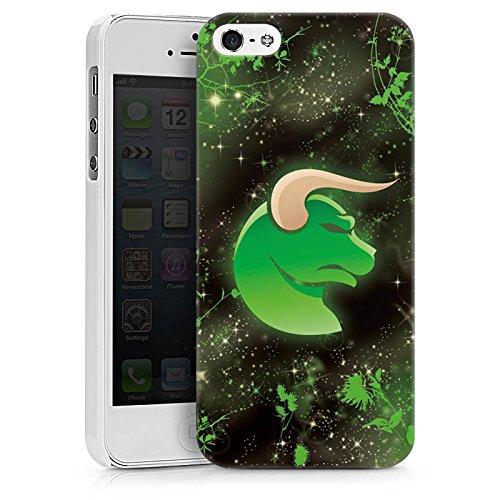 Apple iPhone X Silikon Hülle Case Schutzhülle Sternzeichen Astrologie Stier Hard Case weiß