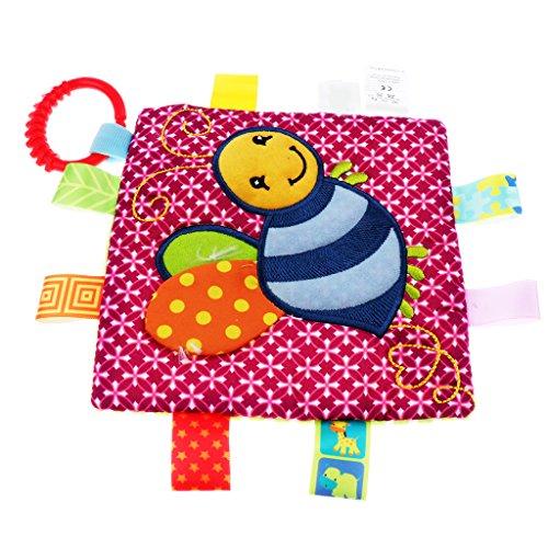 D DOLITY Weiches Kuscheltuch- Schnuffeltuch -Schmusetuch Trösterchen Comforter - Rote Biene