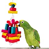 Rypet Bird Wood Chew Toy For Parrot Conure Macaw African Greys Amazon Cockatoo Budgies Parakeet Cockatiel Lovebirds Cage Toy