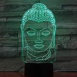 WangZJ 3d Illusion Lampe / 3d Nachtlicht/Dekor Lampe/Baby Kinderzimmer Nachtlicht / 7 Farbwechsel Led Schreibtisch Tisch/Buddha Lampe