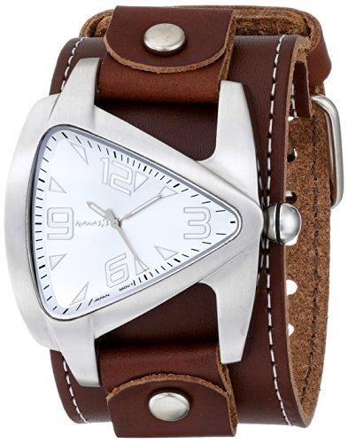 Nemesis BLBB011S - Reloj de pulsera hombre, piel, color Marrón