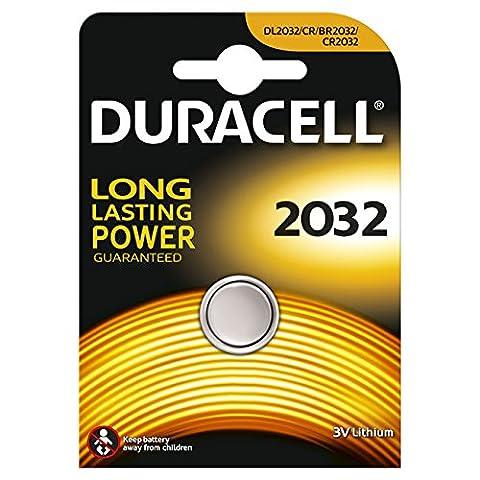 Duracell DUR033917 Elektro 2032 1er (Lithium) im 10er Pack