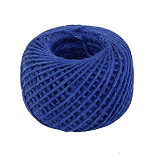 RayLineDo® 2mm Jute Twine String 3-Ply 100 Meter Hemp Rope Cord for Tag, Gifts Wrapping, Wedding Decoration, Office, Gardening Projects in Royal Blue
