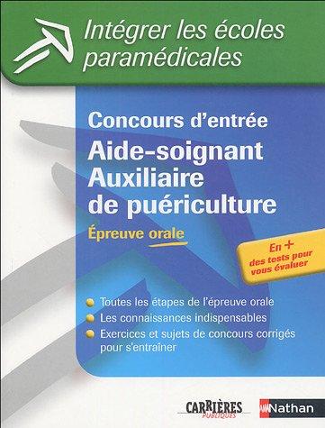Concours d'entrée Aide-soignant/Auxiliaire de puériculture : Epreuve orale (ancienne édition)