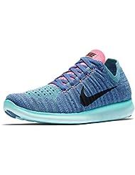 Nike Wmns Free Rn Flyknit Blue, Zapatillas de Trail Running para Mujer