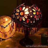 SBWYLT-Fatto a mano in rilievo continentale acrilico lampada da tavolo