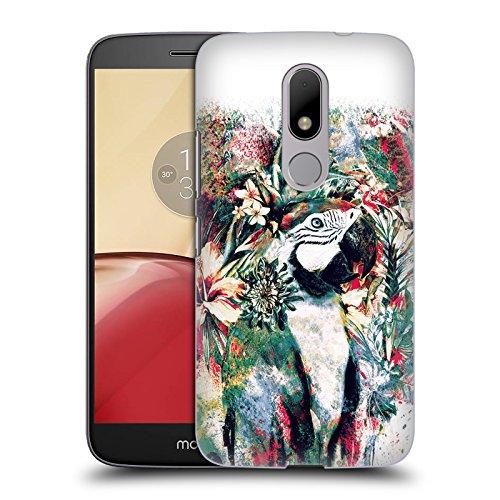 Official Riza Peker Parrot Animals Hard Back Case for Motorola Moto M