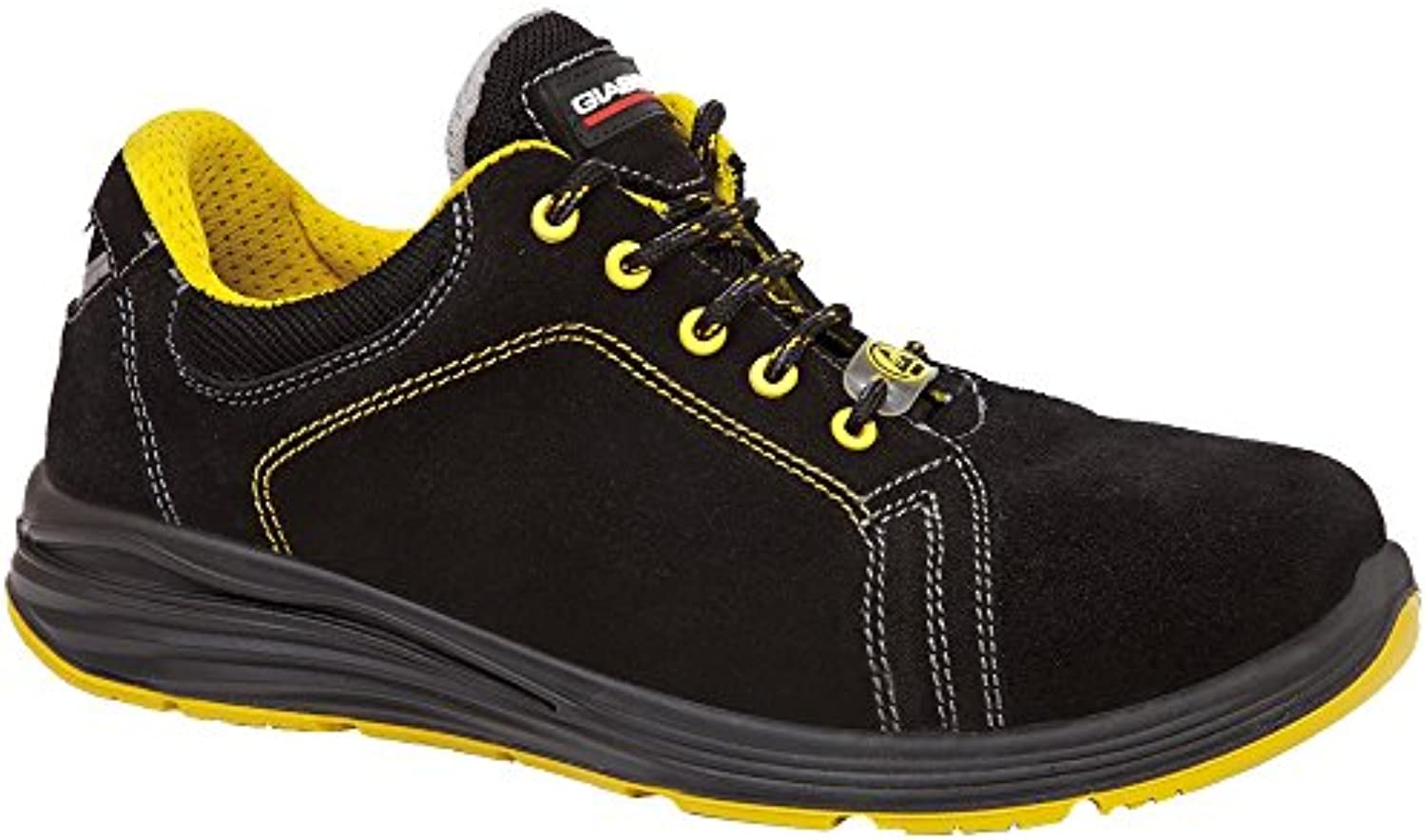 Giasco up025h39 Aries – Zapatos de seguridad bajo S3 negro/amarillo