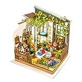 KEHUASHINA Puppenhaus Kreative DIY Miniatur Kit Gartenhaus mit Möbel Sets Beste Valentinstag Geschenke für Freund