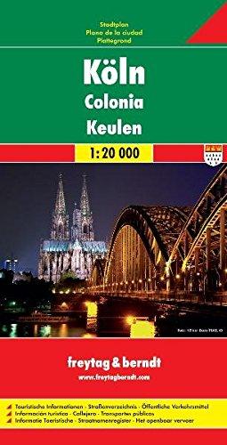 Köln, Stadtplan 1:20.000: Stadskaart 1:20 000 (freytag & berndt Stadtpläne)