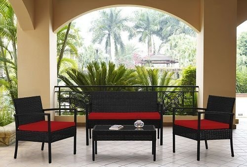 mobili-mobili-da-giardino-in-rattan-4-pezzi-set-divano-rosso