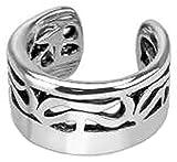Qualitativ Hochwertig TRIBAL Ear Cuff Clip Ring Rhodiniertes Messing