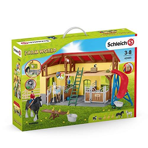 SCHLEICH 42485 Pferdestall Spielfigur, Mehrfarbig
