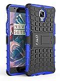 J & D OnePlus 3 Hülle, J&D [Standfuß] [Doppelschicht] [Heavy-Duty-Schutz] Genaue Passform Hybride Stoßfest Schutzhülle für OnePlus 3 - Blau