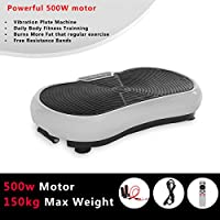 WEIBO Vibration Power Plate Gym Machine Whole Body Massage Slim Exercise Fitness Machine, 99 Levels Adjustable Vibration Speed, Resistance Bands, Remote, Various Colours