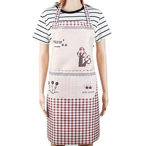 CAOLATOR Schürze Kochschürze für Frauen und Männer Restaurant-Küchen-Schürzen Fröhlicher Baum Khaki (Kochen Schürze Männliche)