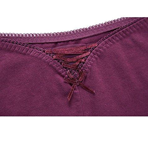 CharmLeaks Damen Panties Lace String Slips Spitze Unterwäsche Tangas Unterhosen Mehrpack Iris