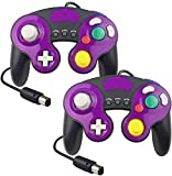 Controller for Gamecube, Compatible with Gamecube/Wii U/Wii/PC/Switch Controller, 2 Packs Classic Wired Controller for Gamecube Super Smash Bros with Turbo Function