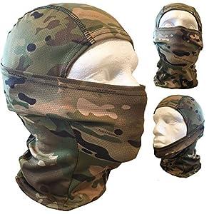 Airsoft Camouflage MultiCam Passe-montagne Wrap visage tête pour Sniper Veil Paintball Armée