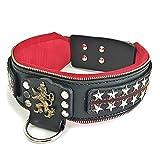 Bestia 'General' Lederhalsband mit austauschbaren Designs. 6,3 cm breit! Nur für große Hunde, Dogo, Rottweiler, Presa, Bulldog, Pitbull, Bully, Amstaff, cane...
