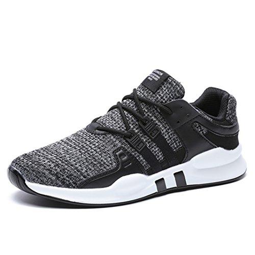 SITAILE Herren Sportschuhe Atmungsaktiv Gym Turnschuhe Leichtgewicht Laufschuhe Lace Up Freizeitschuhe Trainer Outdoor Sneaker Shoes (42 EU, Grau)