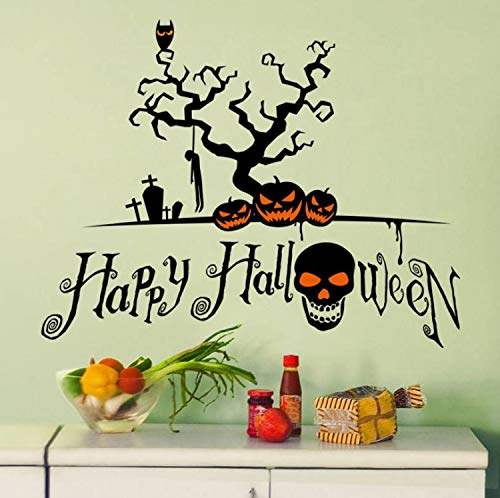 r Living Room Bedroom Background Novel Halloween Pumpkin Cartoon Wall Sticker Window Home Decoration Decal Decor ()