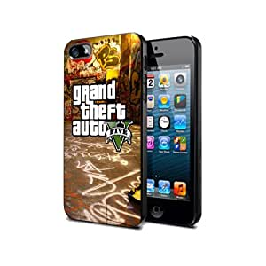 GTA11 Grand Theft Auto V 5 Game Silikon Schutzhülle für iPhone 5/5s Hülle Silicone Cover Case Black@UTMSHOP