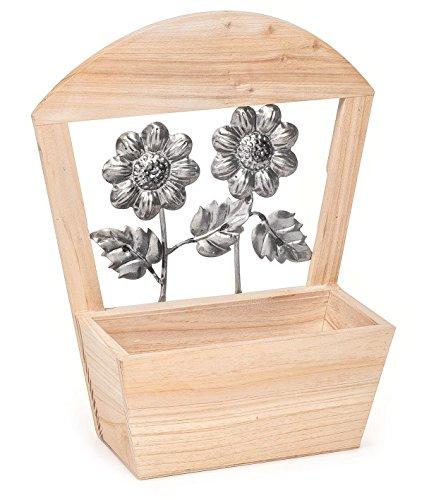 Pflanzkasten, aus Fichtenholz, Blumen
