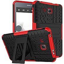 """KATUMO® Funda Transparent Gel Galaxy Tab A6 7.0 puladas, Carcasa de Piel Protectora Case Cover para Tablet Samsung Galaxy Tab A6 7.0""""(SM-T280/285) Funda Dura Cubierta Silicona Cubrir-Rojo"""
