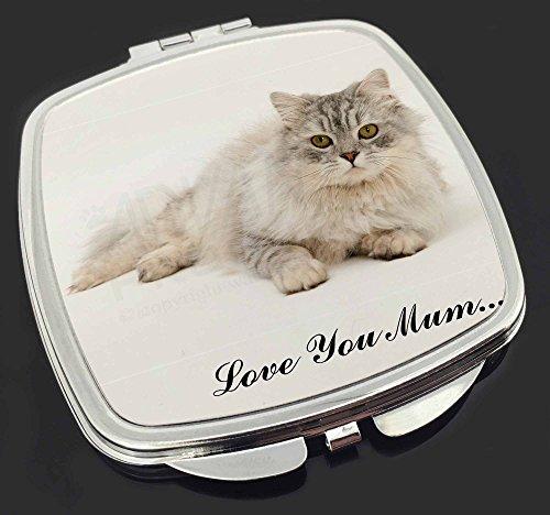 Chinchilla Perserkatze 'Love You Mum' Make-up Taschenspiegel Weihnachtsgeschenk -