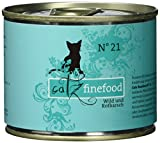Catz finefood Katzenfutter No.21 Wild & Rotbarsch