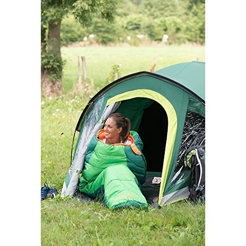 51GCI1O2ohL. SS500  - Coleman Sleeping Bag Fision 100/200, Single Mummy Sleeping Bag, Indoor & Outdoor, Lightweight & Compact, For Adults