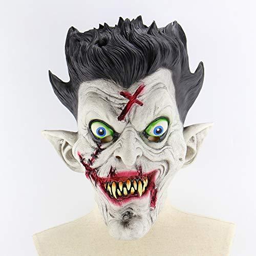 Circlefly Horror-Zombie-Mister Perücke Halloween Bar Spukhaus Kugel Requisiten beängstigend Latexmaske