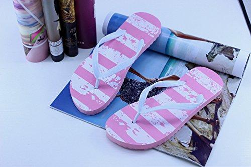 Heheja Donna Infradito Sandali Estate Spiaggia Piscina Clip Toe Piatto Sandali Pink1