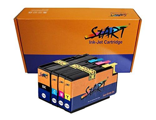 8200 Ersatz (Start - 4 Ersatz Chip Druckerpatronen kompatibel zu HP 953XL Schwarz/HP953 XL Farben für HP OfficeJet Pro 7740WF, 8200 Series, 8710, 8715, 8720 Series, 8730, 8740)
