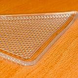 Premium Rug Gripper Anti-Slip Self Adhesive Reusable Transparent Ruggies - (4-Piece)