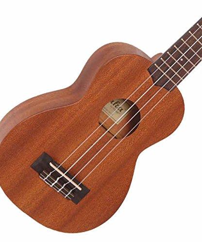 Laka elettroacustica ukulele soprano in mogano massello con preamplificatore Fishman Sonitone Aguila corde