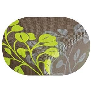 gartentischdecke capri braun gr n oval 130 x 180 130x180 cm tischdecke lotus effekt. Black Bedroom Furniture Sets. Home Design Ideas