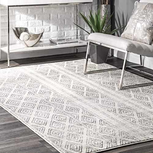 nuLOOM Sarina Diamanten Teppich, 8'x 10', grau