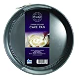 Prochef Teflon Non Stick Coated 9 Inch Spring Form Cake Tin ,Diameter 23cm,Black