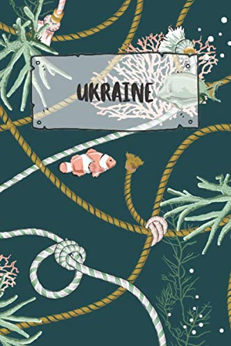 Ukraine: Dotted Travel Diary Notebook or Journey Dotted Grid Journal - Holiday Trip Pocketbook for Men and Women with Dots