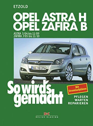 Opel Astra H 3/04-11/09, Opel Zafira B ab 7