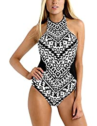 Trajes de Baño Mujer Bañador Push Up Impresión Monokinis