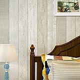 Papel pintado no tejido Mediterráneo Oriental estilo retro azul barras verticales retro madera dormitorio salón TV fondos de pantalla , meters white