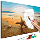 murando - Malen nach Zahlen Strand Meer 60x40cm Malset DIY n-A-0574-d-a