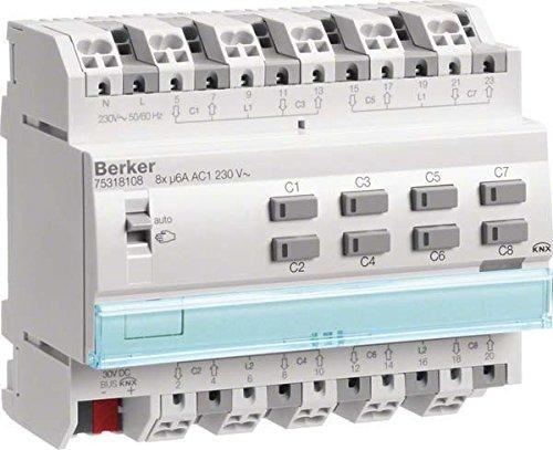 Berker KNX Jalousieaktor 8-fach 75318108 230V AC REG KNX - SENSOREN UND AKTOREN Bussystem-Jalousieaktor 4011334399100 Reg-sensor