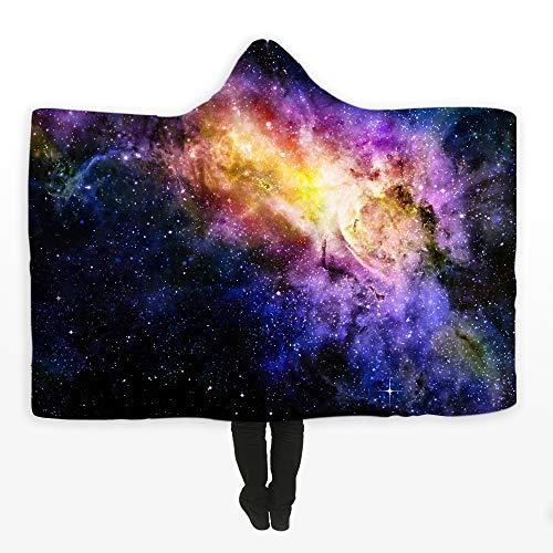 ndschaft 3D gedruckt Kapuze Decke, warme Plüsch TV Decke Sherpa Frauen & Mädchen, warme Geschenk Familienfreund, anpassbar,G,59