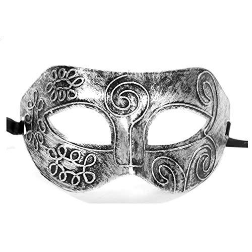 Weimay Halloween Goldene Silber Bronze Maske Römische Männer Half Face Flachkopf Geschnitzte Venezianische Maske - Venezianische 16 Licht