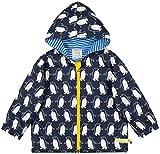 loud + proud Unisex Baby Wasserabweisende Bio Baumwolle-3042 Jacke, Blau (Midnight Mi), 92 (Herstellergröße: 86/92)