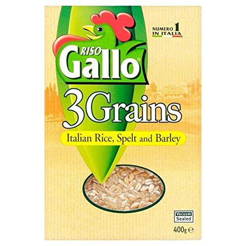 Riso Gallo Riz 3 Grains, L'Orge Et L'Épeautre 400G Risotto - Paquet de 2